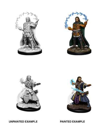 Male Human Wizard: D&D Nolzur's Marvelous Unpainted Miniatures